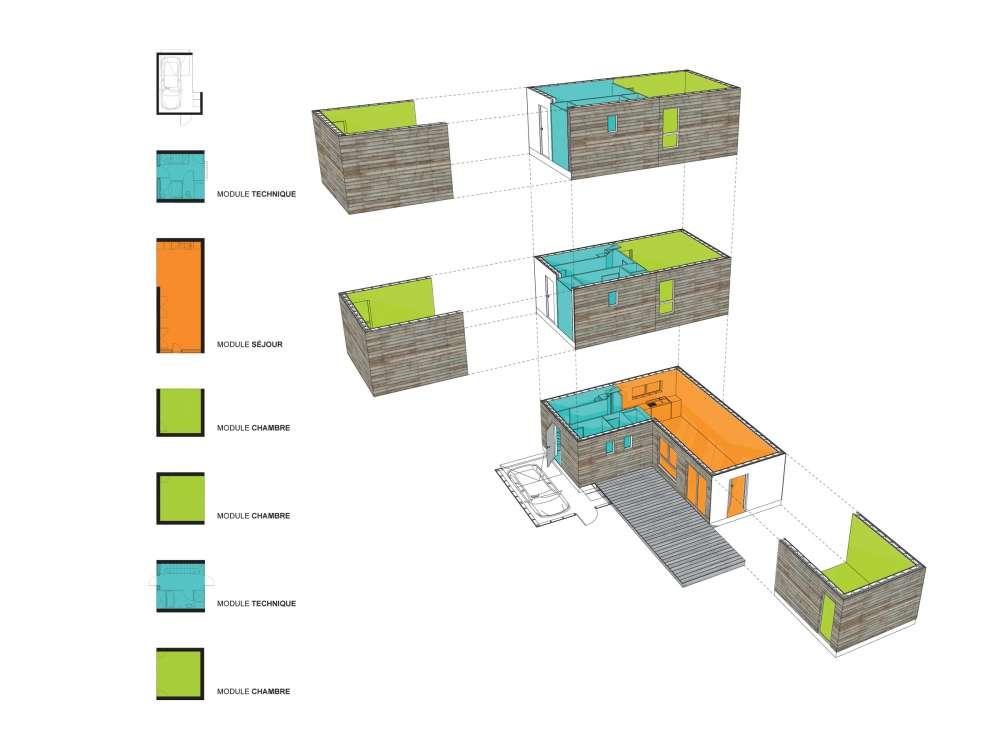 Aquitanis exp rimente l 39 habitat modulaie ossature bois for Habitat modulaire